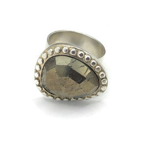 R2936 Silpada Sterling Silver Fantasy Ring Size 8